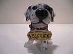 Dog- Big Head w/ Welcome sign