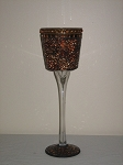 Rust Goblet Candle Holder 15
