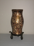 Rust Mosaic Candle Lamp