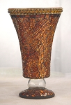 Rust Mosaic Vase/Candle Holder