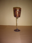 Rust Goblet Candle Holder 9.75