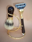 3-pc Shaving Set (Brown and Gold)