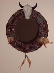 Feathered Mirror with Dream Catchers