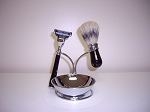 4-pc Shaving Set (Black and Chrome)