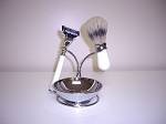 4-pc Shaving Set (White and Chrome)