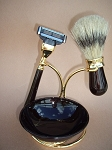 4-pc Shaving Set (Brown and Gold)