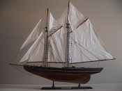 Wood Model Sail Boat (Large Weathered Blue Nose)39in L x 6in W x 34in H