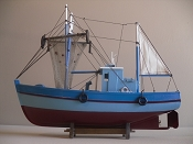 Wood Model Shrimp Boat