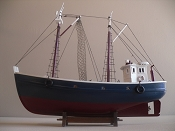 Wood Model Fishing Boat