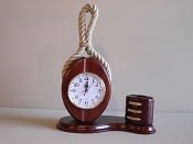 Pulley Clock W/Pen Holder (Battery Operated) L-12in  W-6in  H-15in