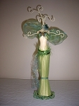 Jewelry Doll Stand- Exotic Light Green Sheer