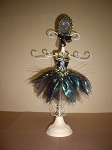 Jewelry Doll Stand- Green Ballernia