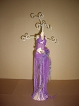 Jewelry Doll Stand- Purple Sheer top