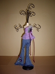 Jewelry Doll Stand- Lavender Top & Blue Jeans