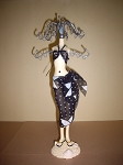 Jewelry Doll Stand- Bathing Suit Black & White