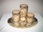 Candles & Mirror Tray 5 Piece Set