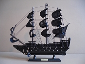 Extra Large All Black Souvenir Pirate Ship, 18'L x 3.5 'W x 17.5'H